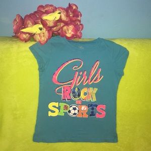 Girls T-Shirt Girl Rock at Sports Sparkly Power